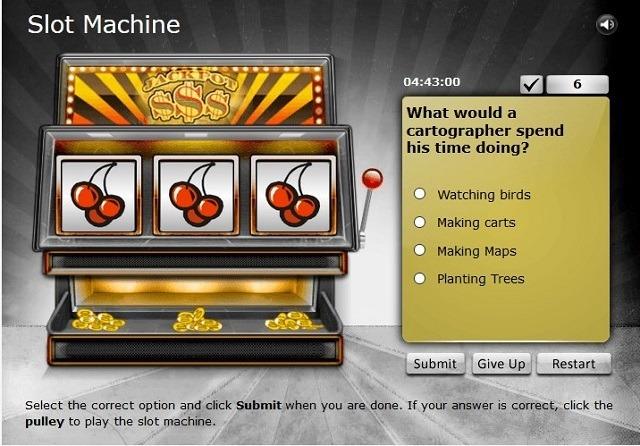 Slot machine assessment game